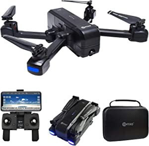 Contixo F22 FPV Foldable Drone with Camera for Adults, Kids, and Beginners - RC Quadcopter with 4K FHD Gimbal Camera - Gesture Control for Selfie - GPS Auto Return - Follow Me - Carrying Case