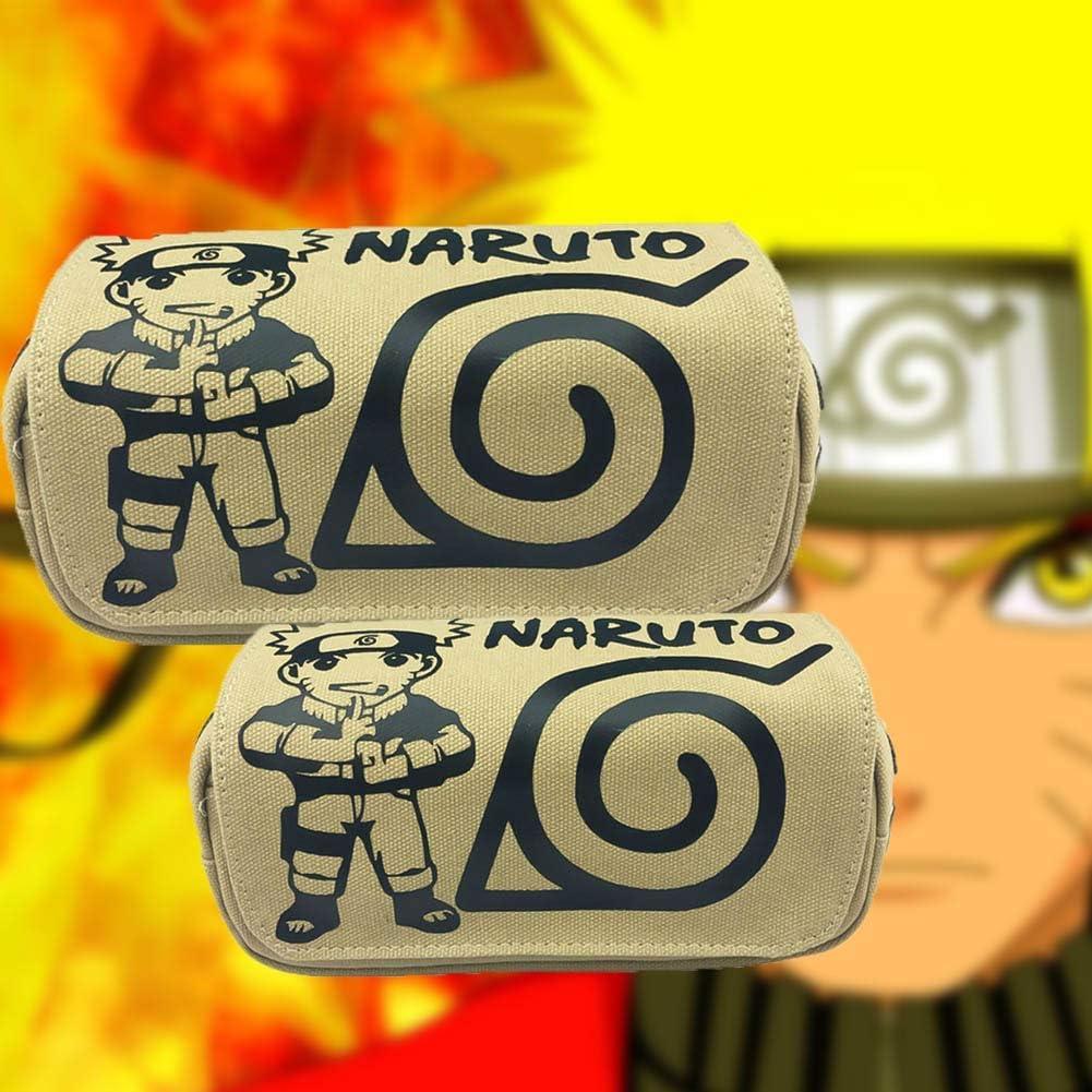 Fingertoys Japonais Manga Naruto Trousse Style 01 Dessin Grande Capacit/é Crayon Agenda avec Double Fermeture Stylo Sac Cosm/étique Maquillage Pochette Bureau Papeterie /École Fournitures