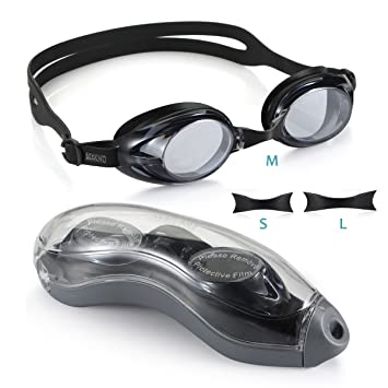 e9e9dad6ce Aegend Silicone Swim Goggles Anti-fog UV Protection No Leaking for Men  Women Adult Youth