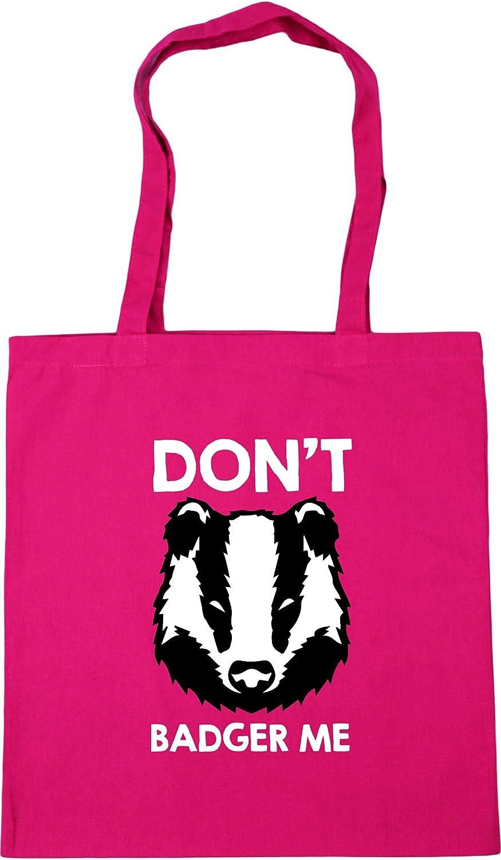 Hippowarehouse Dont Badger Me Tote Shopping Gym Beach Bag 42cm x38cm 10 litres