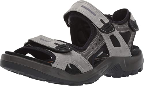 Ecco Men/'s Offroad Yucatan Leather Sandal Receptor Technology Bison Black
