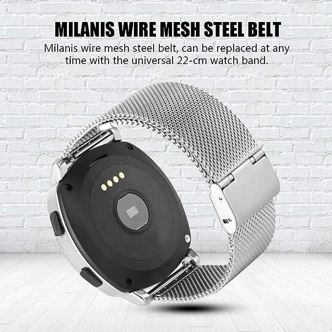 Aramox Microwear L2 Banda de Acero Smartwatch Reloj de Bluetooth ...