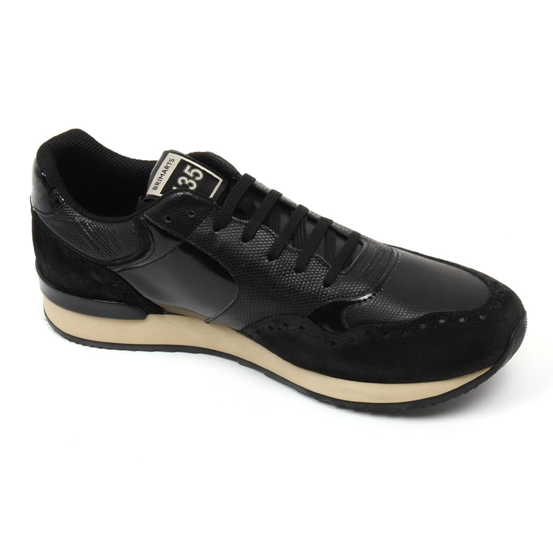 C2370 sneaker uomo BRIMARTS scarpa nero fondo gomma shoe man [42] WLcA4