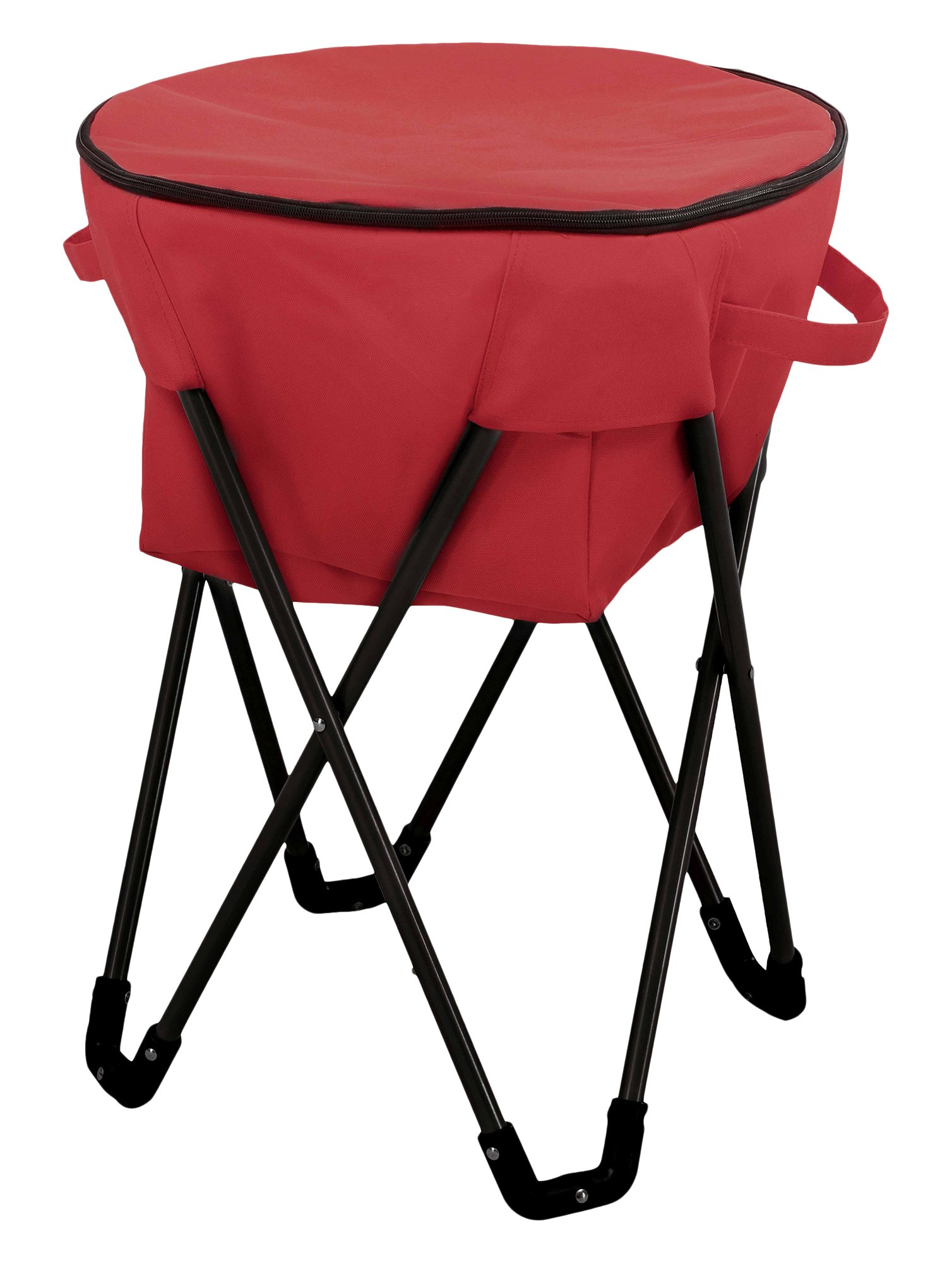 Sunjoy Folding Frame Outdoor Ice Cooler Bag, Red by Sunjoy