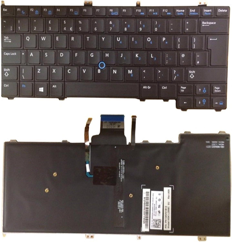 New DELL LATITUDE E7440 90ND8 090ND8 UK Laptop Keyboard Matte Black Backlit