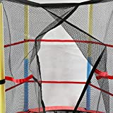 X-MAG-55-Round-Kids-Mini-Trampoline-With-Enclosure-Net-Pad-Rebounder-Outdoor-Exercise