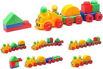 Nabhya Tu-Tu-Tu Train Blocks Puzzle Early Learning Educational Toy for Kids Age 2 to 5