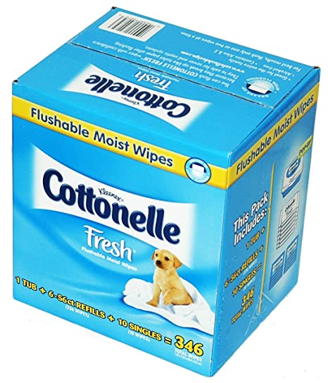 Kleenex Cottonelle Fresh Flushable Moist Wipes - 346 ct by Kimberly-Clark by Kimberly-