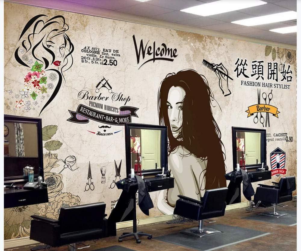 3d Photo Wallpaper Nordic Hairdresser Beauty Salon Barber Shop Background Wall Decoration Retro Industrial Wind From Scratch Beauty Salon Barber Shop Background Wall 200cmx140cm Amazon Com