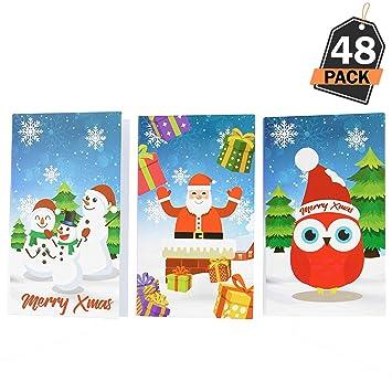 Kompanion 48 Mini Bloc de Notas – Accesorio de Papelería Libreta para Relleno de Medias Navideñas – Premio, Sorpresa para Cumpleaños de Niños o Feria ...