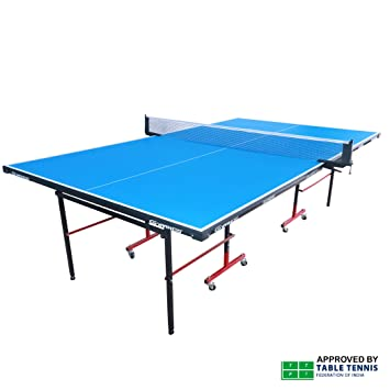 Gymnco Economy Full Size Table Tennis Table With Wheel ( Both Side  Laminated Top 18 Mm