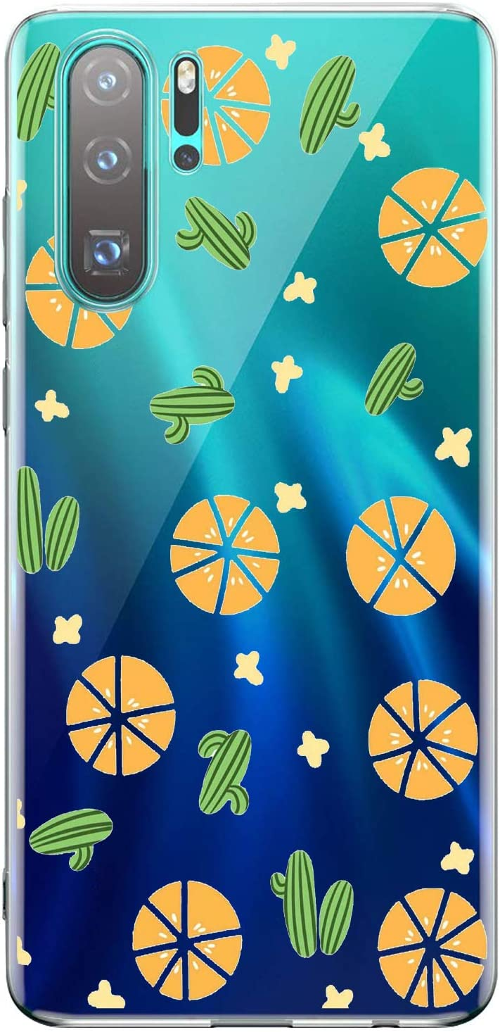Oihxse Transparente Silicona Case Compatible con OnePlus 5T Funda Suave TPU Protección Carcasa Moda Dibujos Animados Divertida Diseño Ultra-Delgado Cubierta-Naranjas