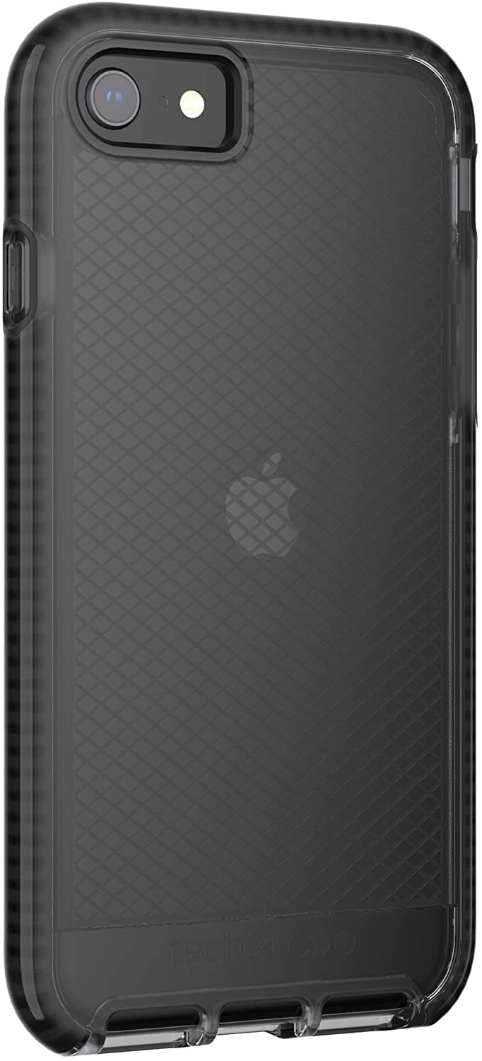tech21 Evo Check for Apple iPhone 7/8 and SE (2020) Phone Case with Bacteria Fighting Antimicrobial and 12ft. Drop Protection - Smokey/Black