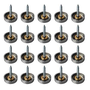 alise 20 pcs 45 dia sus 304 stainless steel decorative mirror screws cap - Decorative Screws