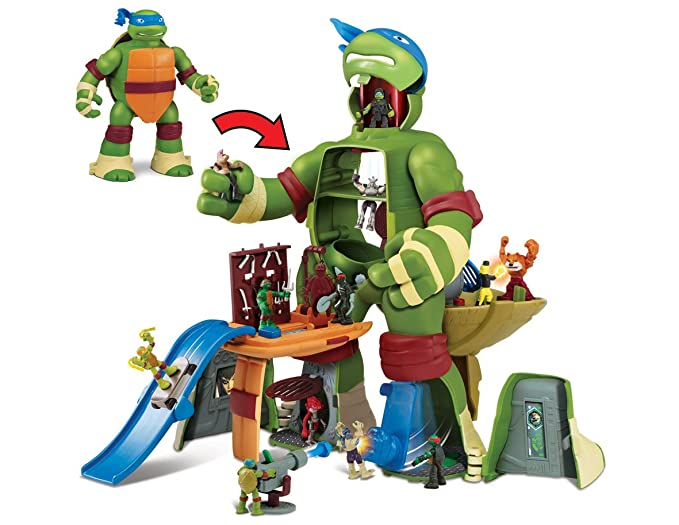 Micro de Las Tortugas Mutantes Leo de Juguete Ataque ...