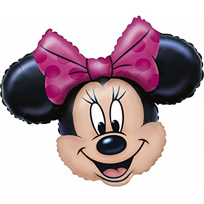 "Anagram International 776501 Minnie Mouse Head Shape Pack, 28"": Home & Kitchen"