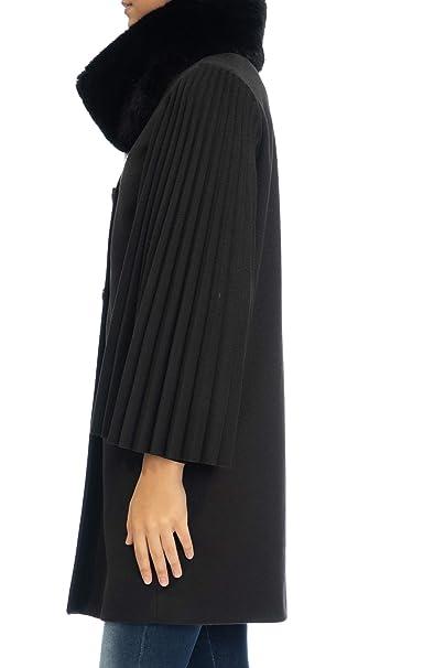 new style 8ace8 33be9 Rinascimento Cappotto Lungo Donna Nero: Amazon.it: Abbigliamento