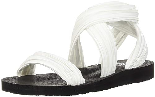 Skechers Sandali e Infradito per Le Donne, Color Bianco, Marca, Modelo  Sandali E Infradito per Le Donne Meditation Silly Sky Bianco