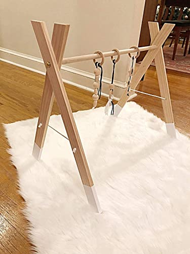 Amazon.com: wooden baby gym frame baby activity center modern play