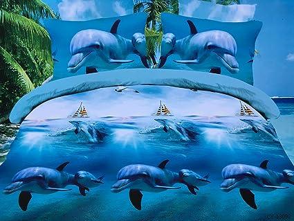 Funda Nordica Delfines.Nueva Funda Nordica Delfines Impresion 3d Animal De La