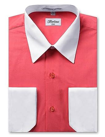 611ec5df07b Berlioni Italy Men s Long Sleeve Two Tone Premium Dress Shirt at Amazon  Men s Clothing store