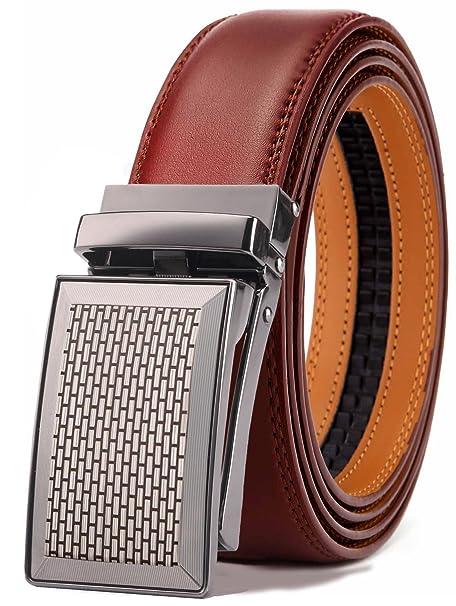 0ba973cbdb3 BULLIANT Hombre Cinturón-Cuero Automática Cinturón De Hombre 35MM-Tamaño  Ajuste  Amazon.es  Ropa y accesorios
