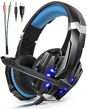 Auriculares Cascos Gaming Headset Gamer con Micrófono Juegos ...