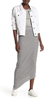 product image for Frank & Eileen Tee Lab Raw Edge Asymmetrical Striped Maxi Skirt M
