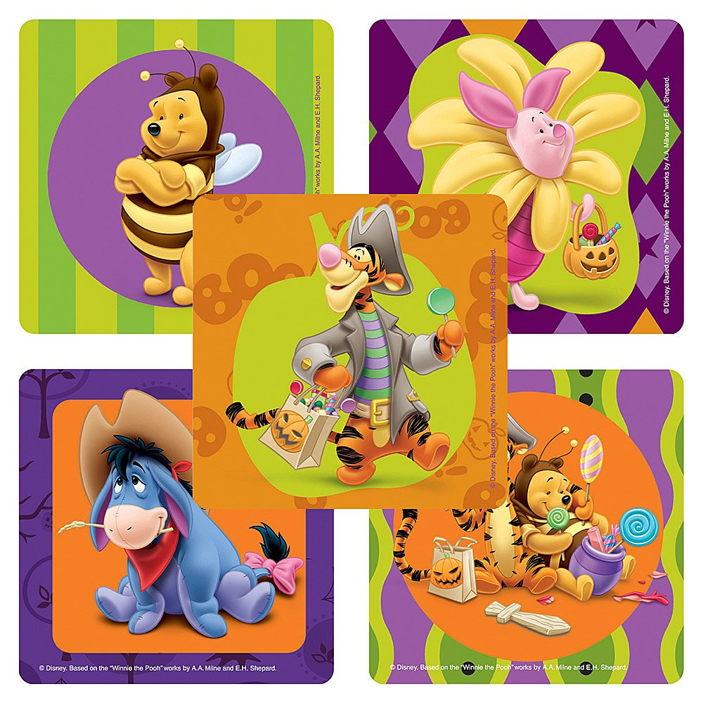 Disney Winnie the Pooh Halloween Stickers - Party Favors - 75 per Pack