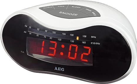 AEG MRC 4110 - Radio despertador (sintonizador UKW-/MW, pantalla de LED