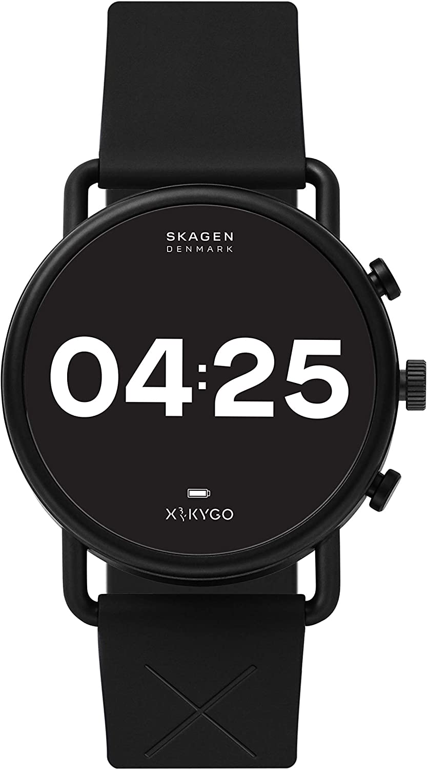 Skagen Connected Falster 3 Stainless Steel Touchscreen Smartwatch with Heart Rate, GPS, NFC, and Smartphone Notifications