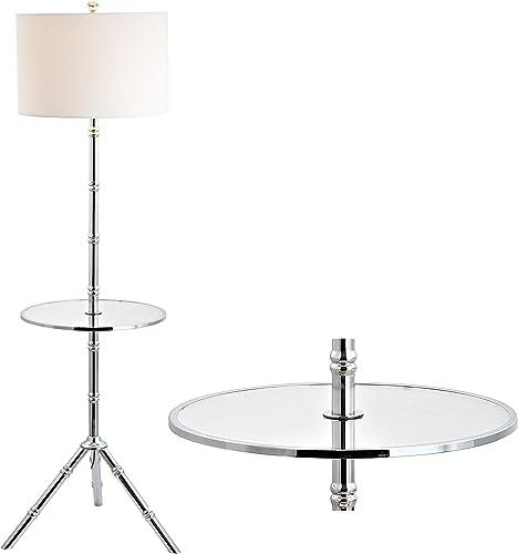 JONATHAN Y JYL2012B Hall 62″ Metal End Table Floor Lamp