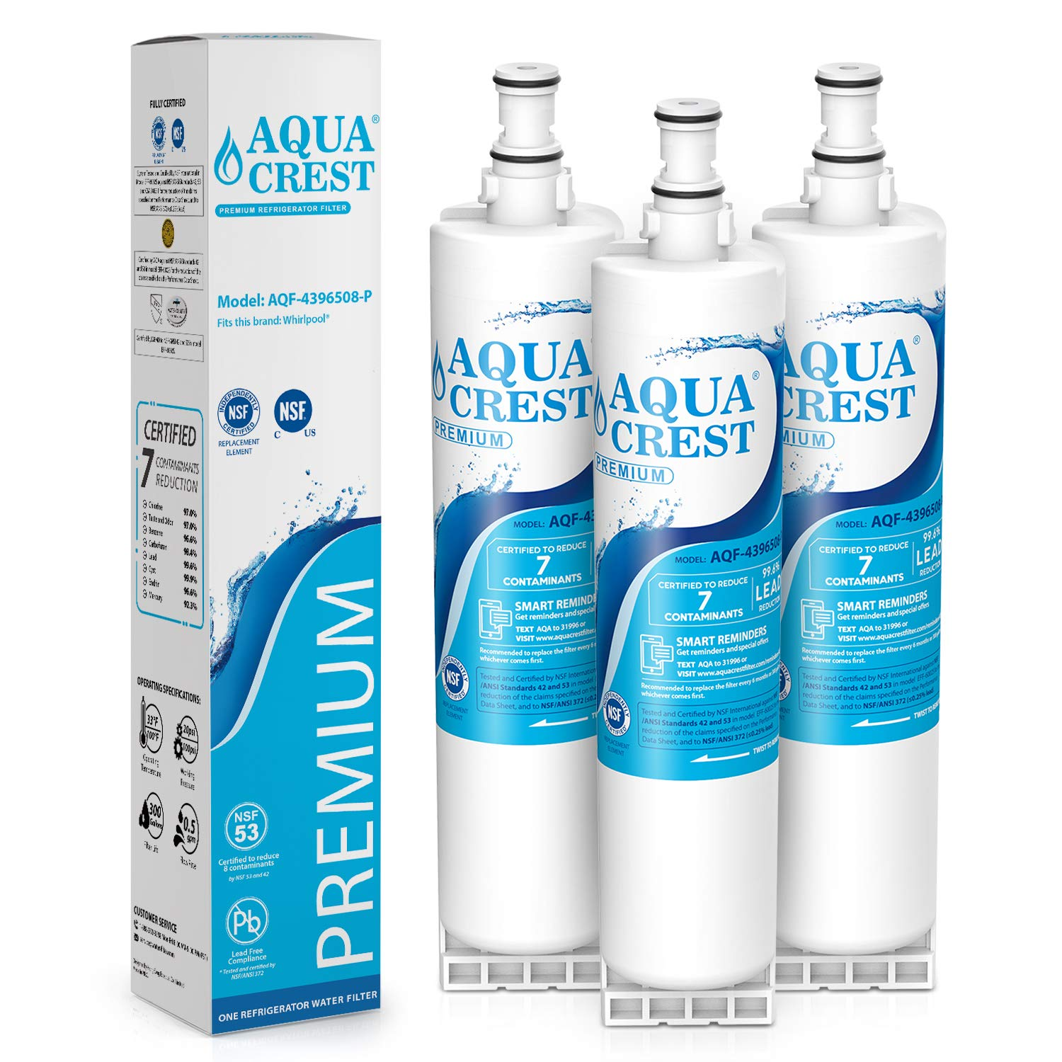 Aqua Fresh Replacement Water Filter Fits Whirlpool ED5THAXMS00 Refrigerators