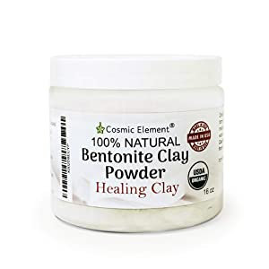 Cosmic Element Bentonite Clay Powder 100% Pure & Unrefined 1 lbs/16 Ounce Premium Calcium Bentonite Clay - Heavy Metal Detox and Cleanse ! Sourced from Colorado,USA