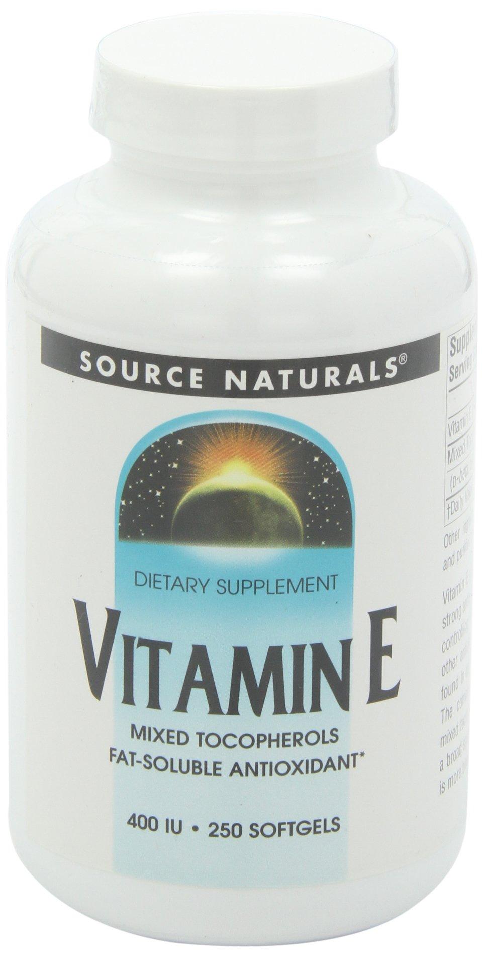 Source Naturals Vitamin E, Natural Mixed Tocopherols, 400 IU, 250 Softgels