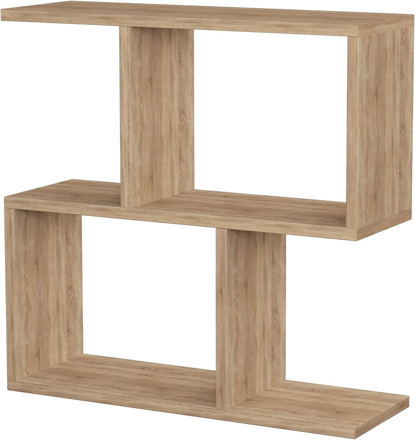Hocuspicus 2 Tier Storage Side Table Many Colour Options Oak 60x60x20cm Shelves Organizer Office Living Room End Desk Stand Display