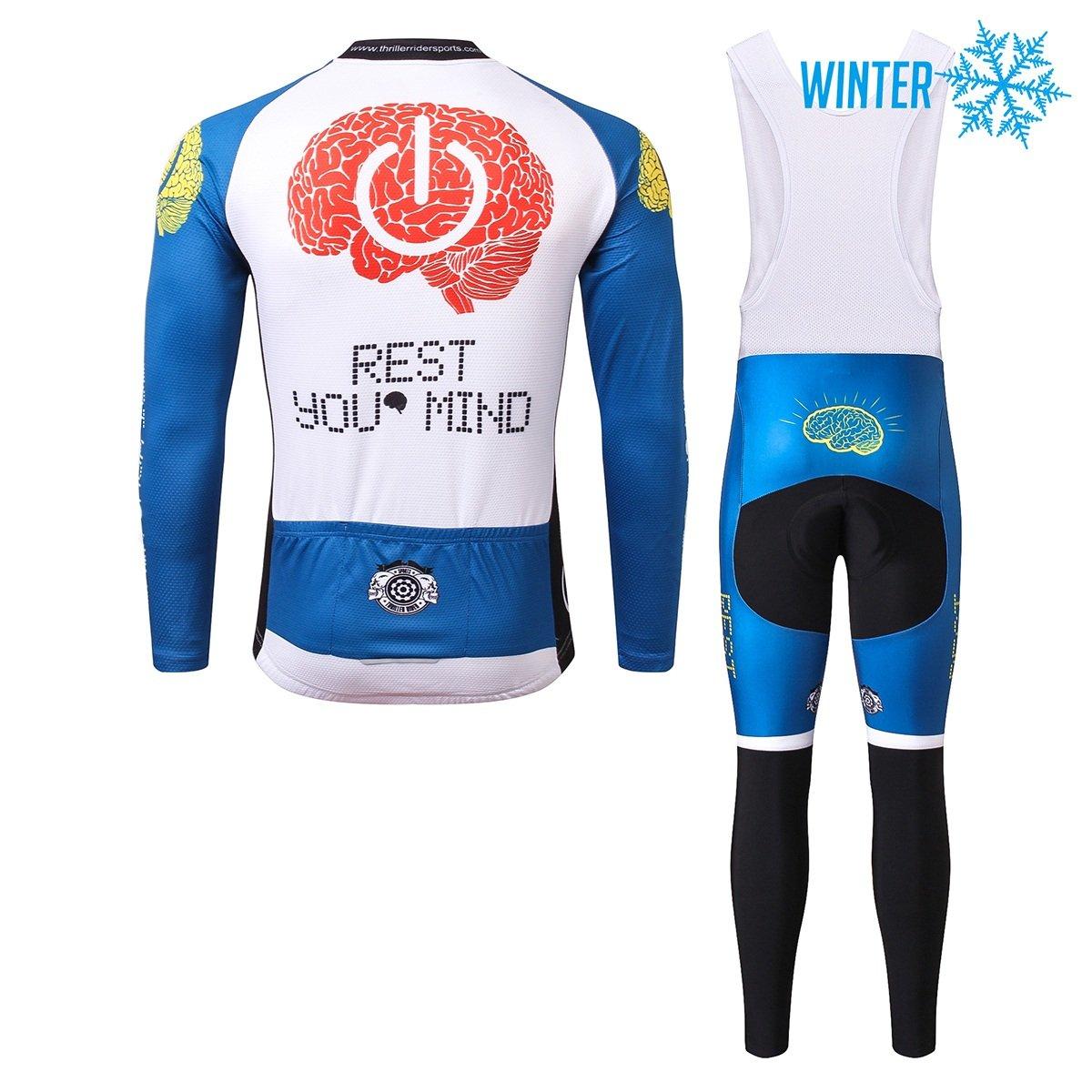 Thriller Rider Sports/® Uomo Rest Your Mind Sport e Tempo Libero Abbigliamento Ciclismo Magliette Manica Lungo
