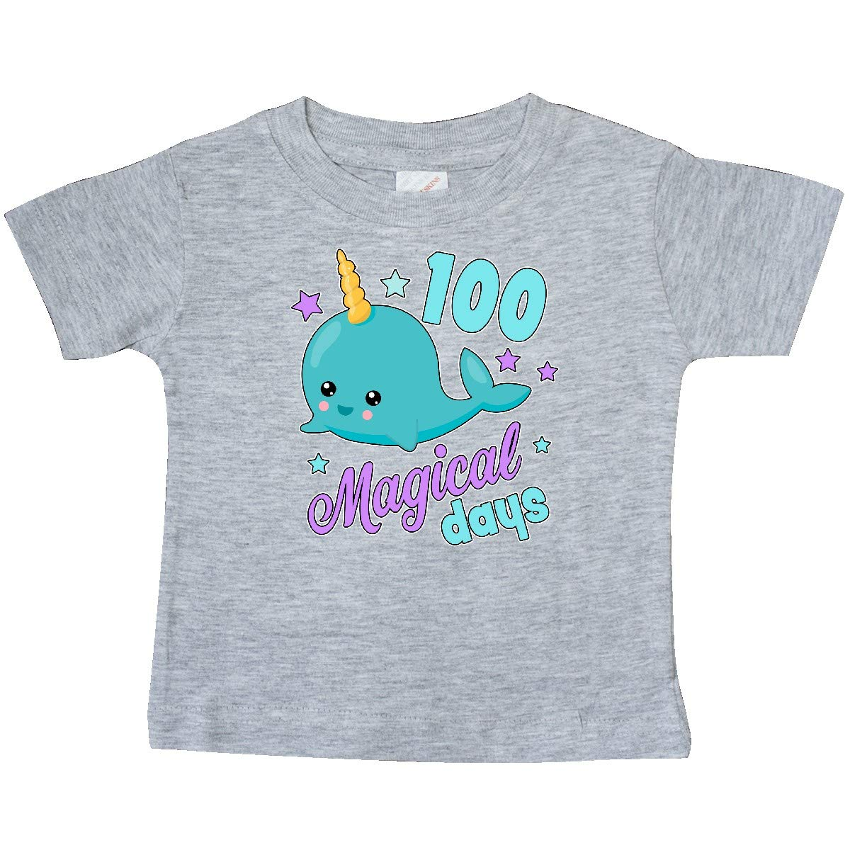 inktastic 100 Magical Days with Cute Narwhal Baby T-Shirt
