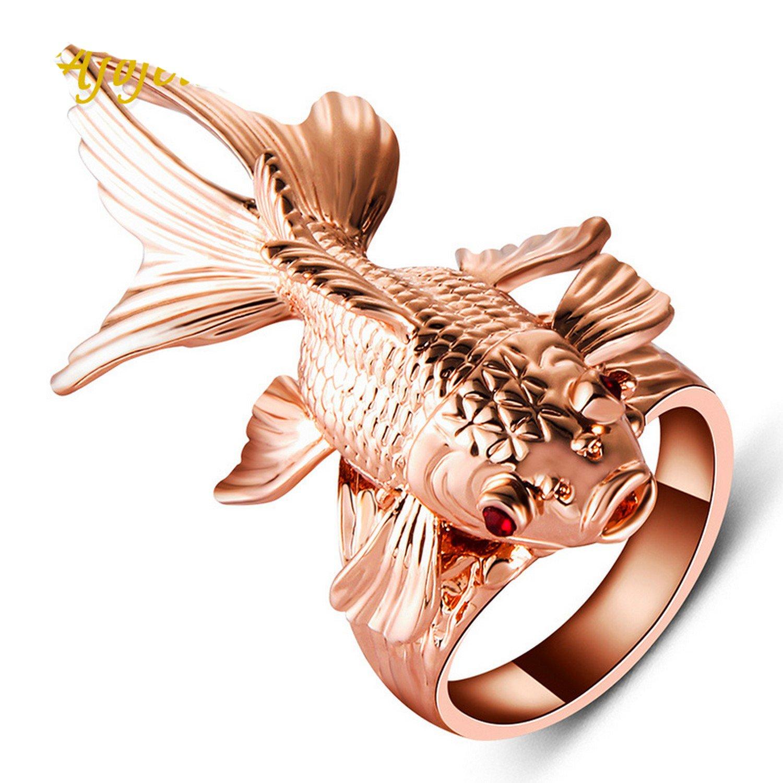 Gemmart Amazing Animal Jewelry Big Punk Rose Gold-color engagement rings