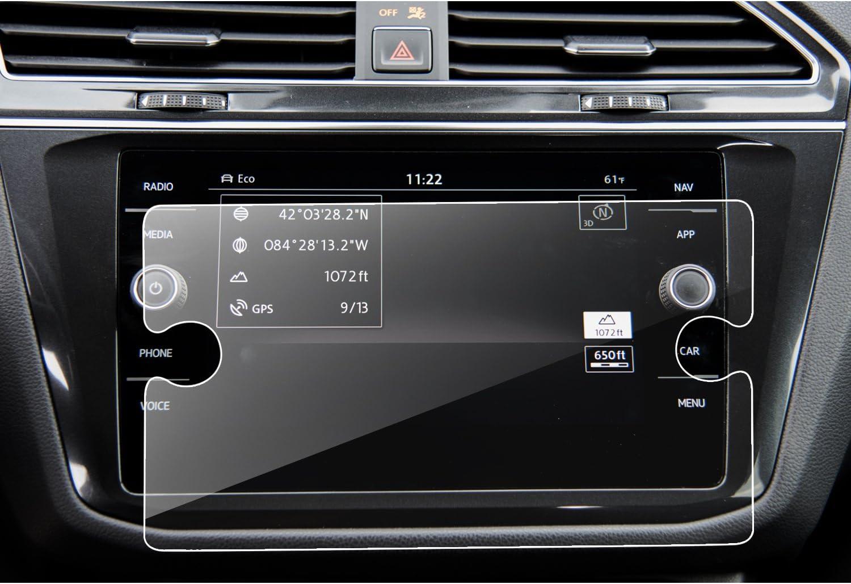 LFOTPP VW Volkswagen Tiguan II GTE Allspace 8 pulgadas Navegación Protector de pantalla - 9H Cristal Vidrio Templado GPS Navi película protegida Glass