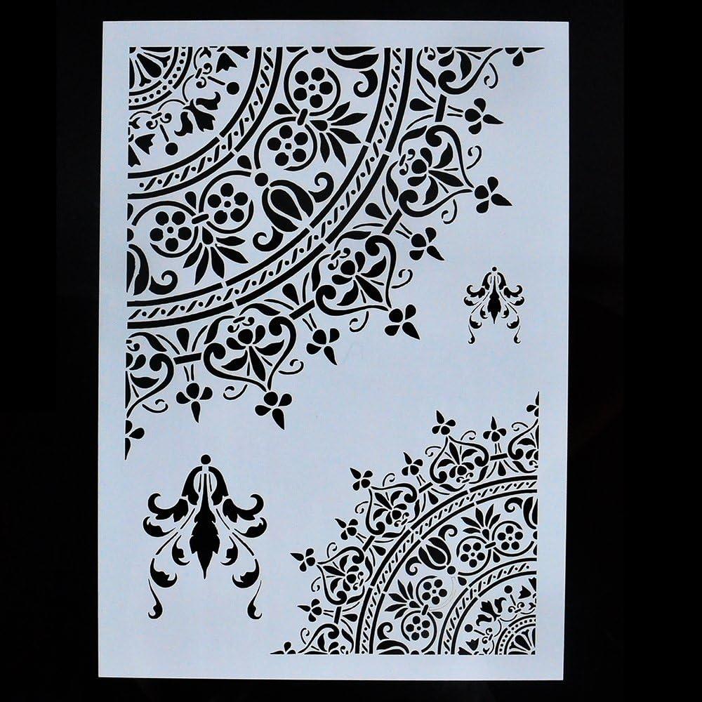 Mandala DIY Decorative Mandala Stencil Template for Painting on Walls Furniture Crafts A2 Size