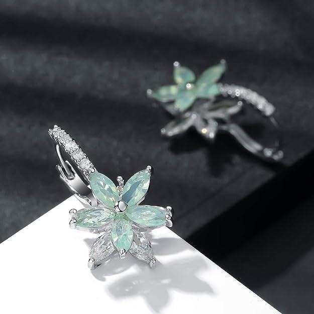 liujun Acrylic Hollow Earrings Drop Dangle Best Lady Statement Beaded Earring Bohemia Leaf Feather Hypoallergenic Resin Earrings for Women Girls Jewelry Gift