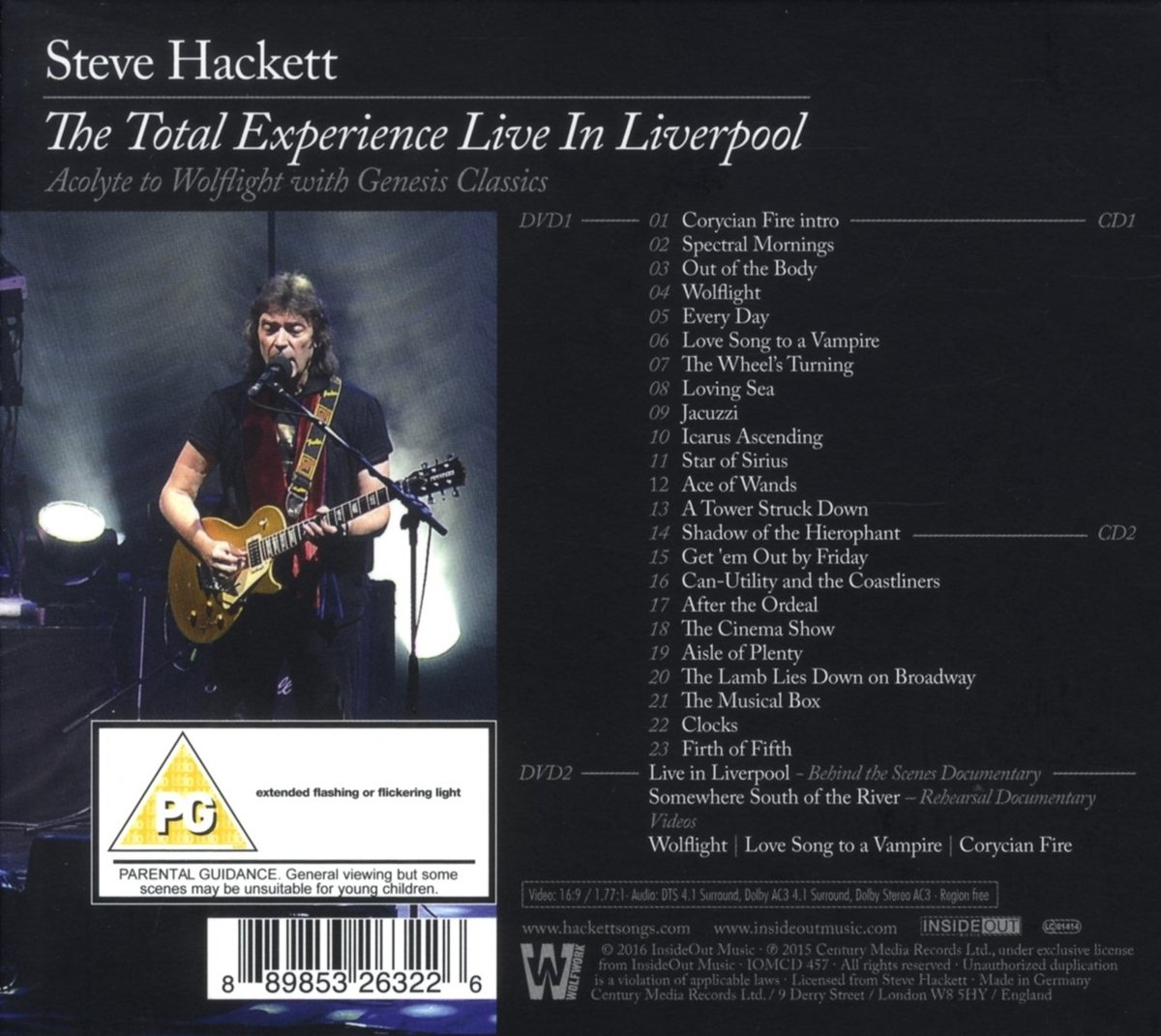 Steve hackett the total experience live in liverpool amazon steve hackett the total experience live in liverpool amazon music m4hsunfo