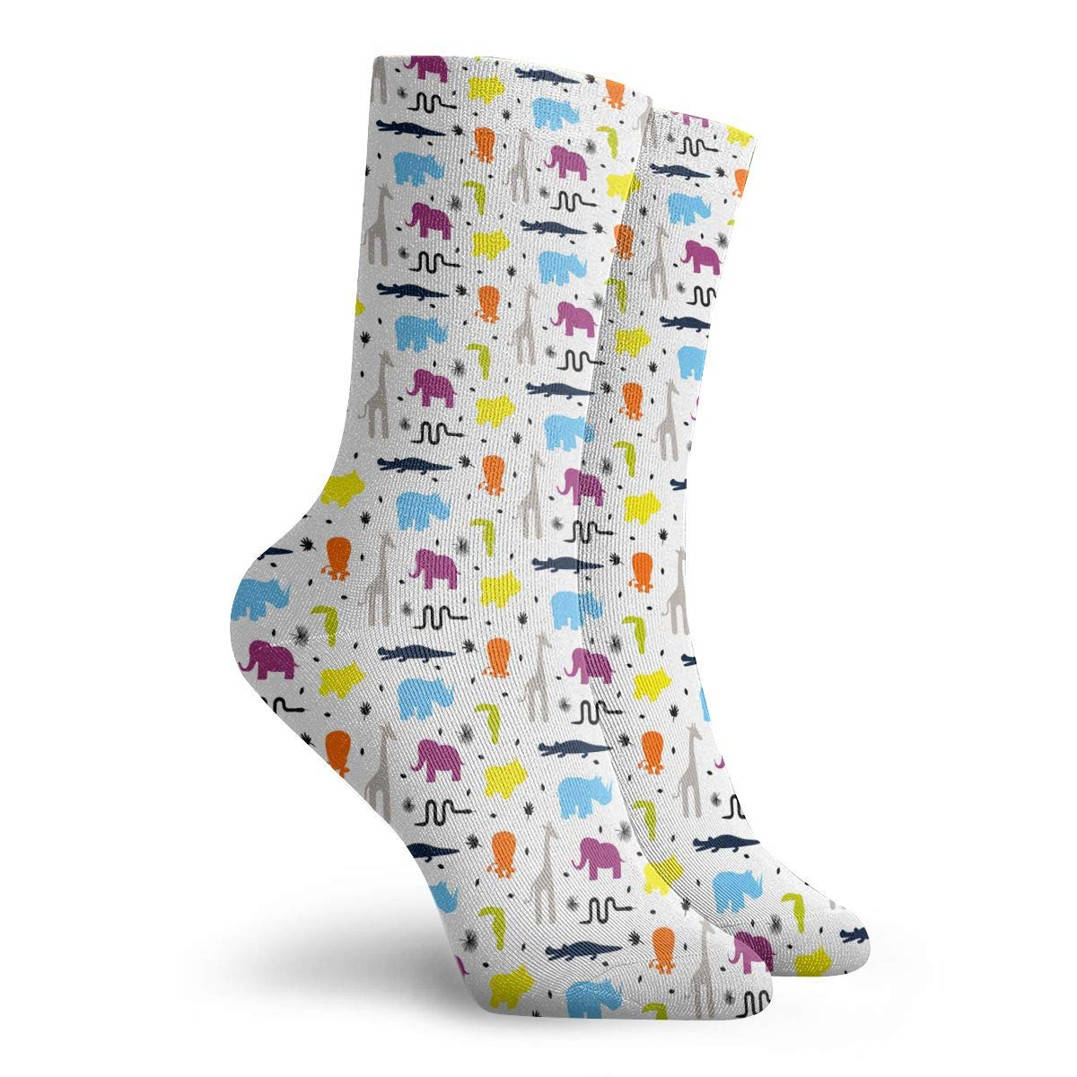 Unisex Giraffe And Various Animals Athletic Quarter Ankle Print Breathable Hiking Running Socks