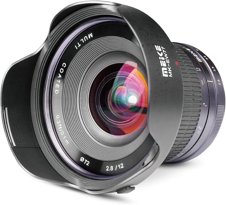 Meike Optics MK-01228CE - Objetivo Ultra Gran Angular para Nikon 1 (12 mm, f2.8)