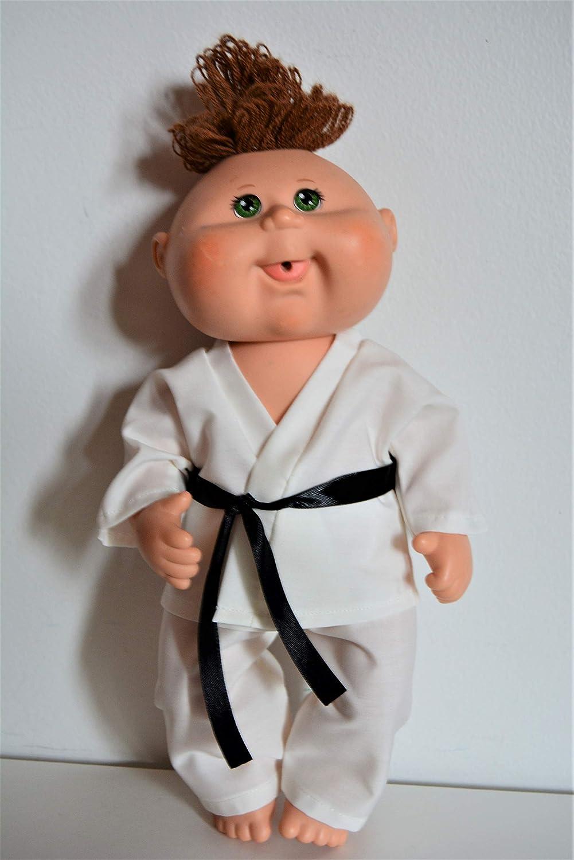 Handmade Doll Clothes White Karate Uniform Gi Judo TKD fit 11.5