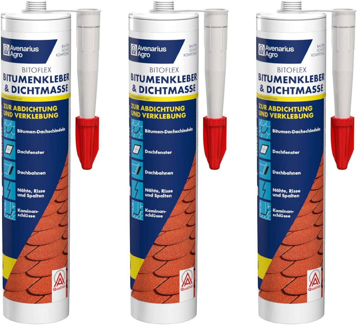 Avenarius Agro Bitoflex Bitumen-Kleber Dichtmasse 15 ml (15 Stück