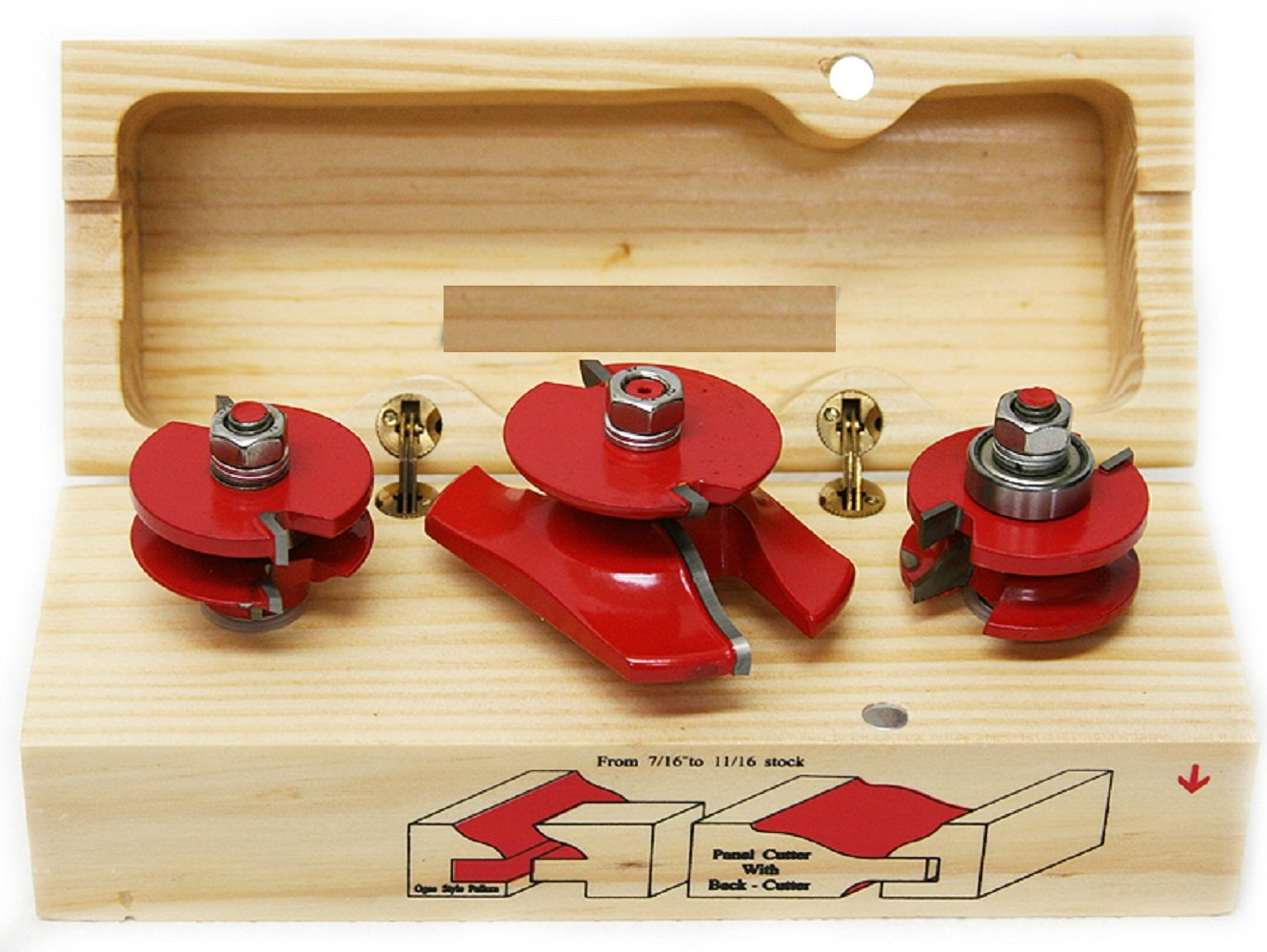 1/2'' Shank Ogee Cutter Router Bit Set Wood Cabinet Pro Power Tool Bits Kit 3 Pc