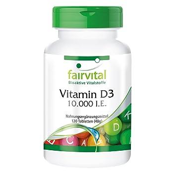 Vitamina D3 Depot 10000 UI - Bote grande 120 comprimidos - solamente 1 comprimido cada 10 días - colecalciferol: Amazon.es: Salud y cuidado personal