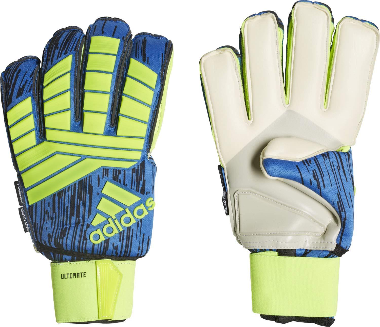Adidas PROTator Ultimate Torwarthandschuhe, Solar Yellow schwarz Football Blau, 8